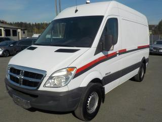 Used 2007 Dodge Sprinter High Roof 2500 144-in. WB Cargo Van Diesel with Power Inverter and Rear Shelving for sale in Burnaby, BC