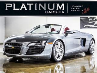 Used 2011 Audi R8 4.2 Quattro SPYDER, 420HP, NAVI, RED Leather for sale in Toronto, ON