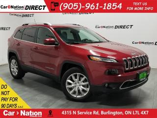 Used 2015 Jeep Cherokee Limited| 4X4| LEATHER| PANO ROOF| NAVI| for sale in Burlington, ON