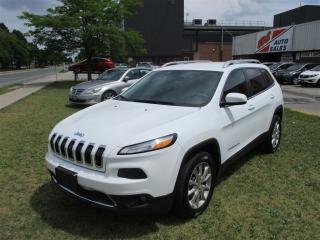 Used 2014 Jeep Cherokee Limited ~ NAVIGATION ~ LEATHER ~ 4x4 ~ for sale in Toronto, ON