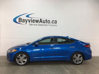 Used 2017 Hyundai Elantra Limited - ALLOYS! SUNROOF HTD LTHR! NAV! INFINITY! RCTA! for sale in Belleville, ON