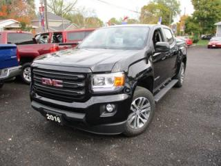 Used 2016 GMC Canyon POWER EQUIPPED SLE MODEL 3.6L - V6.. 4X4.. CREW.. SHORTY.. TOUCH SCREEN DISPLAY.. NAVIGATION.. BLUETOOTH.. CLOTH.. for sale in Bradford, ON