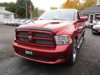 Used 2011 Dodge Ram 1500 WORK READY SLT MODEL 5 PASSENGER 5.7L - HEMI.. 4X4.. QUAD CAB.. SHORTY.. PAINTED TO MATCH CAP.. CLOTH.. REMOTE START.. for sale in Bradford, ON