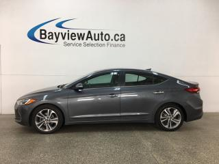 Used 2017 Hyundai Elantra Limited - HTD FRONT & REAR LTHR! SUNROOF! PUSH START! REVERSE CAM! BSA! for sale in Belleville, ON