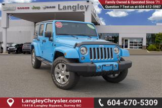Used 2017 Jeep Wrangler Unlimited Sahara <B>*NO ACCIDENTS*X-DEMO*LOW KMS</B> for sale in Surrey, BC