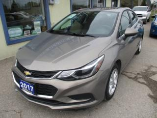 Used 2017 Chevrolet Cruze 'LIKE NEW' LT MODEL 5 PASSENGER 1.4L - TURBO.. FACTORY WARRANTY.. BOSE AUDIO.. BACK-UP CAMERA.. SUNROOF.. WI-FI HOTSPOT.. for sale in Bradford, ON