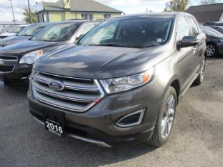 Used 2016 Ford Edge LOADED TITANIUM MODEL 5 PASSENGER 2.0L - ECO-BOOST.. AWD.. LEATHER.. HEATED/AC SEATS.. PANORAMIC SUNROOF.. NAVIGATION.. BACK-UP CAMERA.. for sale in Bradford, ON