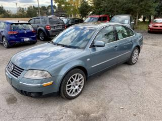 Used 2003 Volkswagen Passat W8 4MOTION, 6 speed manual, 1 owner, RARE for sale in Halton Hills, ON