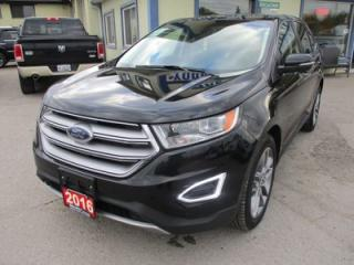 Used 2016 Ford Edge LOADED TITANIUM EDITION 5 PASSENGER 3.5L - V6.. AWD.. LEATHER.. HEATED/AC SEATS.. NAVIGATION.. PANORAMIC SUNROOF.. BACK-UP CAMERA.. BLUETOOTH.. for sale in Bradford, ON