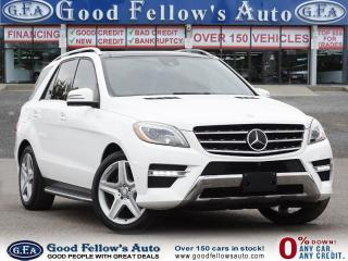 Used 2015 Mercedes-Benz ML 350 4MATIC, DIESEL, LEATHER SEATS, PAN ROOF,NAVIGATION for sale in Toronto, ON