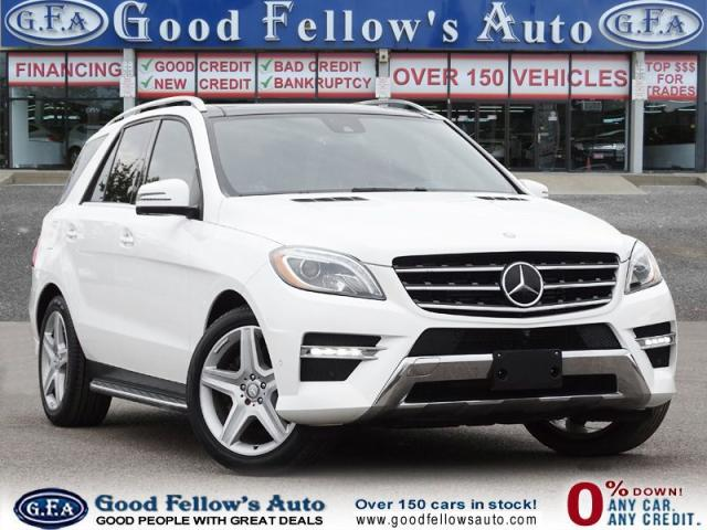 2015 Mercedes-Benz ML 350 4MATIC, DIESEL, LEATHER SEATS, PAN ROOF,NAVIGATION