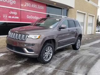 New 2018 Jeep Grand Cherokee Summit / Panoramic Sunroof / GPS Navigation for sale in Edmonton, AB