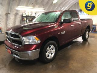 Used 2016 RAM 1500 SLT * Quad Cab * 4WD * 5.7L HEMI VVT V8 engine with FuelSaver MDS * Tow hitch w/ 6 pin connect * Trailer assist * U connect touchscreen* Power windows for sale in Cambridge, ON
