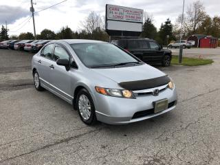 Used 2007 Honda Civic DX-G *CERTIFIED* for sale in Komoka, ON