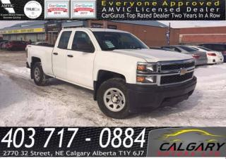 Used 2014 Chevrolet Silverado 1500 4WD Double Cab Standard Box Work Truck for sale in Calgary, AB