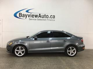 Used 2015 Audi A3 2.0 TDI Komfort - SUNROOF! HTD LTHR! A/C! BLIETOOTH! for sale in Belleville, ON