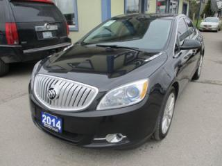 Used 2014 Buick Verano LOADED 'FUEL EFFICIENT' 5 PASSENGER 2.4L - ECO-TEC.. LEATHER TRIM.. HEATED SEATS.. BACK-UP CAMERA.. BLUETOOTH.. POWER SUNROOF.. for sale in Bradford, ON