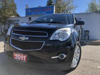 Used 2011 Chevrolet Equinox AWD 4dr 2L with leather new tires heat seats Bluetooth for sale in Brampton, ON