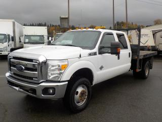 Used 2012 Ford F-350 SD Diesel Crew Cab 9 Foot Flat Deck 4WD for sale in Burnaby, BC