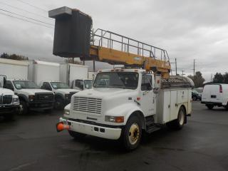 Used 1998 International 4700 Diesel Bucket Truck EH37 Bucket with Generator and Air Brakes for sale in Burnaby, BC