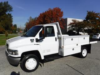 Used 2004 Chevrolet C4500 12 Foot Flat Deck Service Truck Diesel Dually for sale in Burnaby, BC