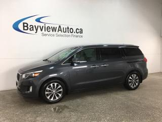 Used 2017 Kia Sedona SX+ - BSA! 3 ZONE CLIMATE! REVERSE CAM! BLUETOOTH! PWR DOORS! WIFI!\ for sale in Belleville, ON