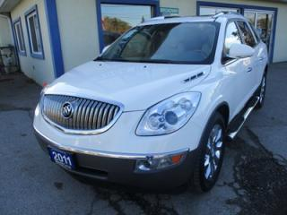Used 2011 Buick Enclave LOADED CXL-2 MODEL 7 PASSENGER 3.6L - V6.. AWD.. CAPTAINS.. 3RD ROW.. LEATHER.. HEATED/AC SEATS.. REAR DVD.. DUAL SUNROOF.. NAVIGATION SYSTEM.. for sale in Bradford, ON