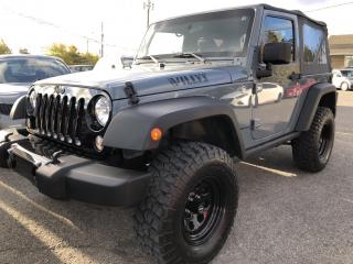 Used 2015 Jeep Wrangler Sport Willys with Nice lift! 6 -Speed manual with Air, Cruise, Bluetooth! Rubicon Express Lift for sale in Kemptville, ON