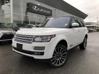 Used 2016 Land Rover Range Rover V8 Autobiography Supercharged SWB Autobiography SW for sale in North Vancouver, BC
