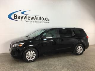 Used 2018 Kia Sedona LX - REVERSE CAM! PARK AID! BLUETOOTH! PWR GROUP! for sale in Belleville, ON