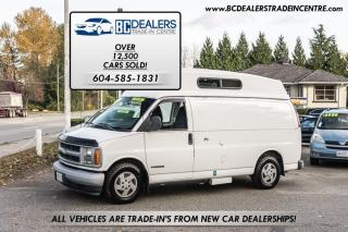 Used 2001 Chevrolet Express 2500 Motorhome Conversion, Raised Roof, Clean for sale in Surrey, BC