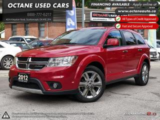 Used 2012 Dodge Journey R/T 7 PASS SUV! ACCIDENT FREE! ONE OWNER! for sale in Scarborough, ON