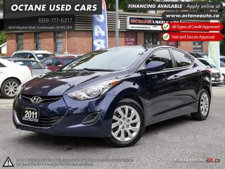 Used 2011 Hyundai Elantra GLS ONE OWNER! ONTARIO VEHICLE! BULETOOTH! for sale in Scarborough, ON