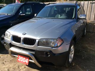 Used 2004 BMW X3 2.5i AWD/LEATHER/PANORAMIC ROOF/ALLOYS/MUST SEE! for sale in Scarborough, ON