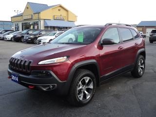 Used 2014 Jeep Cherokee Trailhawk 3.2L 4X4 RemotStart Nav MoonRoof for sale in Brantford, ON