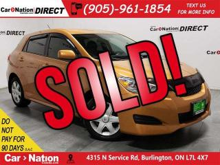 Used 2009 Toyota Matrix XR| LOCAL TRADE| ONE PRICE INTEGRITY| for sale in Burlington, ON