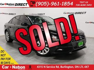 Used 2013 Audi A4 2.0T| AWD| LOCAL TRADE| SUNROOF| for sale in Burlington, ON
