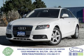 Used 2009 Audi A4 2.0L Quattro AWD No Accidents Certified New Tires for sale in Bolton, ON