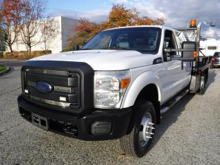 Used 2013 Ford F-350 SD XL Crew Cab 9 Foot Flat Deck Service Truck Dually 4WD for sale in Burnaby, BC