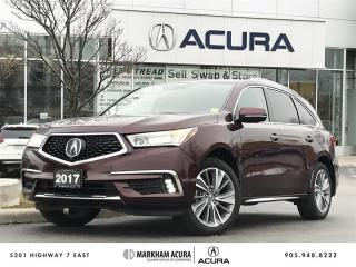 Used 2017 Acura MDX Elite Htd & Vent Seats, DVD, Navi, 360 Cam for sale in Markham, ON