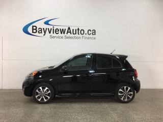 Used 2017 Nissan Micra - SUNROOF! LEATHER! REVERSE CAM! BLUETOOTH! CRUISE! PWR GROUP! for sale in Belleville, ON