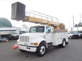 Used 1999 International 4700 Bucket Truck Diesel with Generator and Air Brakes for sale in Burnaby, BC