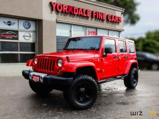 Used 2015 Jeep Wrangler Unlimited Sahara Navigation, LIFTED, Hard+Soft Top, Leather for sale in Toronto, ON