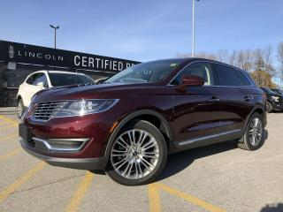 Used 2018 Lincoln MKX Reserve AWD|NAVIGATION|PANORAMIC VISTA ROOF|LEATHER for sale in Barrie, ON