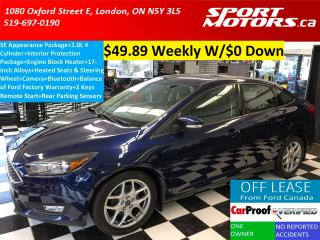 Used 2016 Ford Focus SE+Camera+Park Sensors+Heated Seats & Steering for sale in London, ON