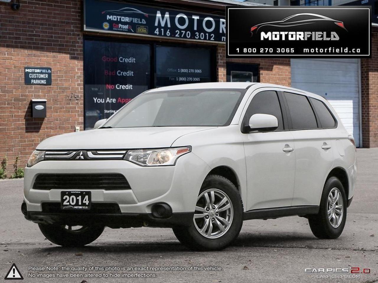 2014 Mitsubishi Outlander ES FWD *Factory Warranty, Rearview Cam, Certified*