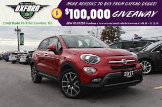 Used 2017 Fiat 500 X Trekking - great fuel economy, sunroof, well equip for sale in London, ON