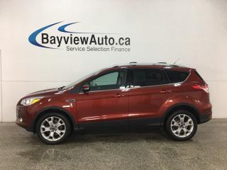 Used 2016 Ford Escape Titanium - 4WD! KEYPAD! ECOBOOST! HTD LTHR! REVERSE CAM! SYNC! for sale in Belleville, ON