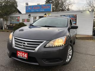 Used 2014 Nissan Sentra 4dr Sdn SV with navi and back up cam heat seats for sale in Brampton, ON