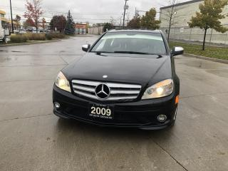 Used 2009 Mercedes-Benz C350 C-350, 4 MATIC, black on black Leather, Sunroof, N for sale in Toronto, ON